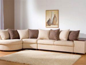 Перетяжка углового дивана на дому в Москве