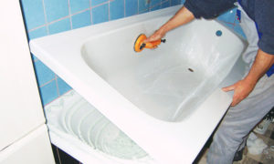 Как восстановить эмаль в ванной?