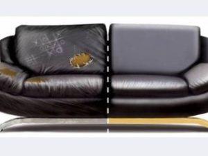 Перетяжка кожаного дивана в Москве