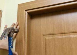 Наличники на двери - установка своими руками