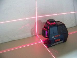 Как применять лазерный уровнень
